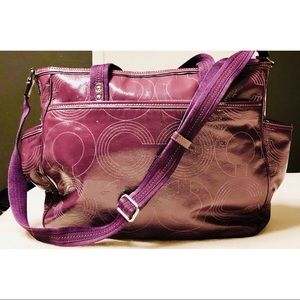 Coach Bags - Coach F1293 purple diaper bag and changing pad